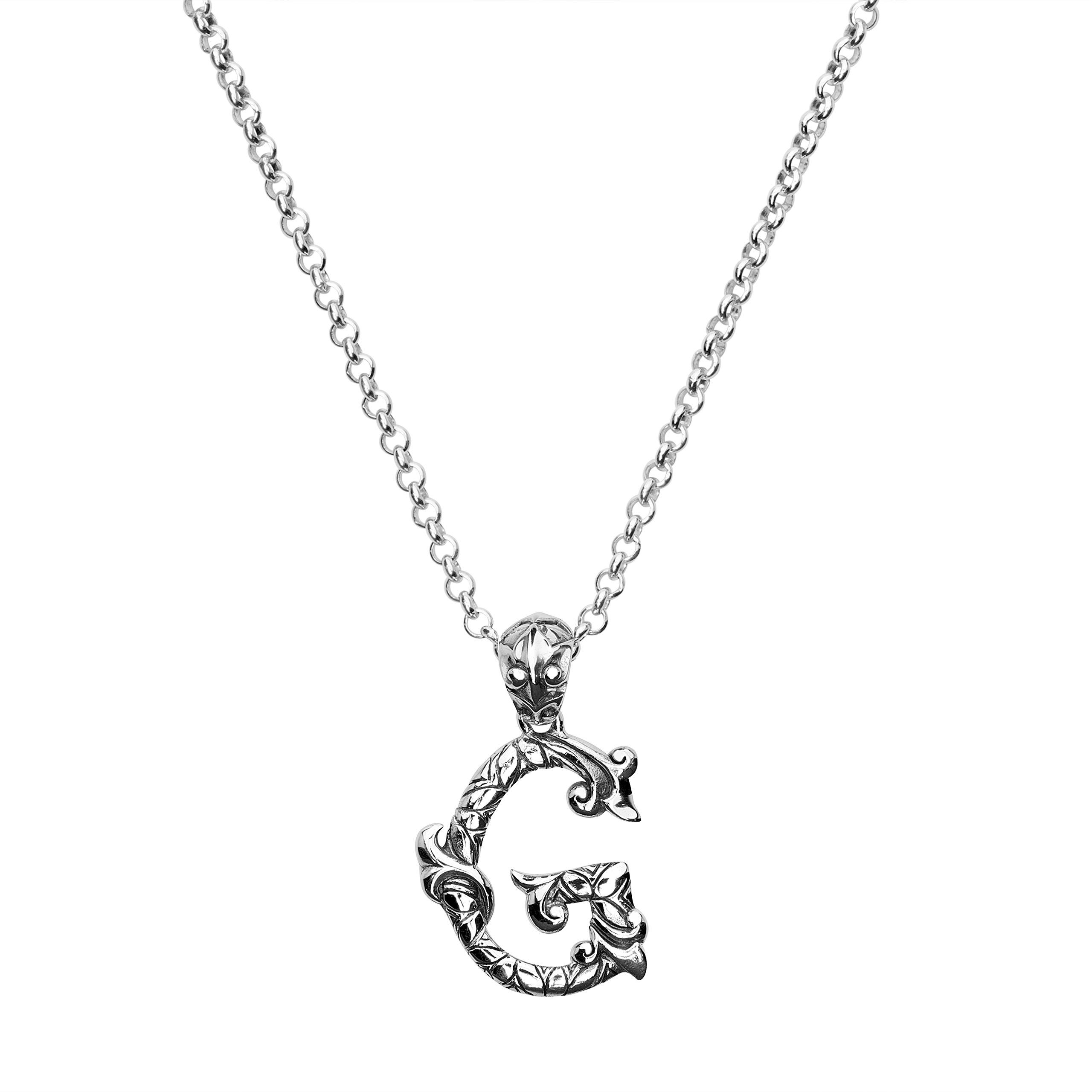 jewelry gold designs g necklace gallery metallic lyst in diamond disc letter pendant kc