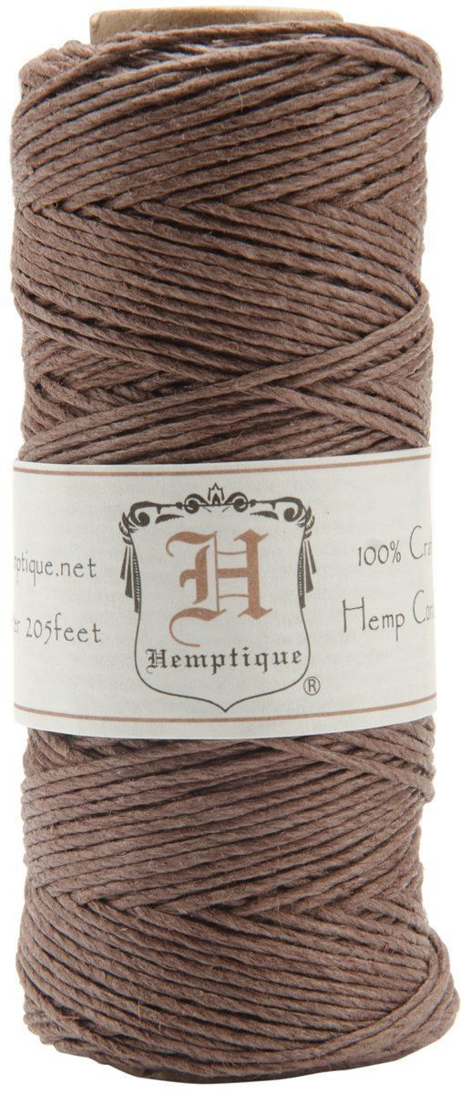 Dark Brown 20lb Hemp Cord Twine For Packaging By Wrapworks Beading Supplies Hemp Cord Arts And Crafts Supplies