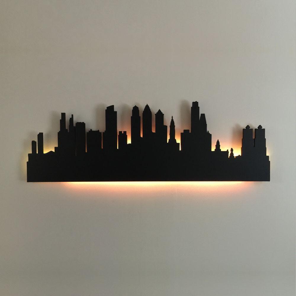 Philadelphia Skyline Philadelphia Skyline Wood Wall Decor Wood Wall Art