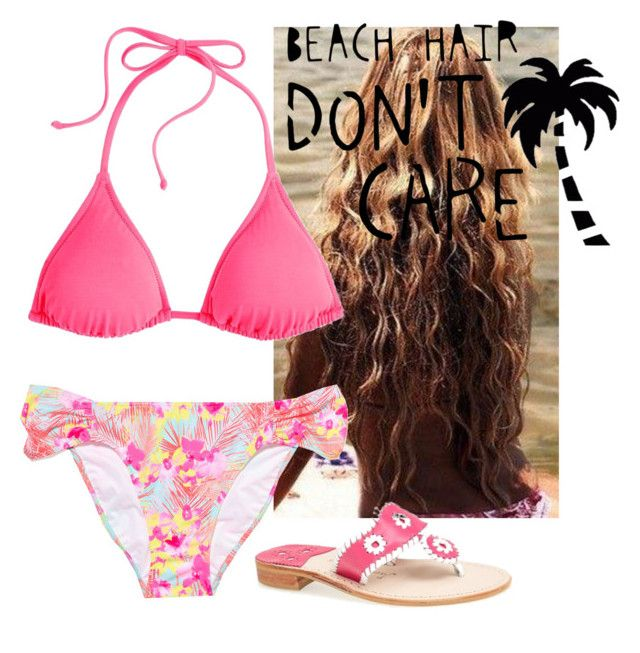 """""""somebody pls take me to the beach"""" by morgantaylor37 ❤ liked on Polyvore featuring J.Crew, Victoria's Secret PINK and Jack Rogers"""