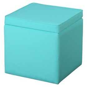 Swell Aqua Blue Ottoman Entry Way Heyyyy Pinterest Square Machost Co Dining Chair Design Ideas Machostcouk