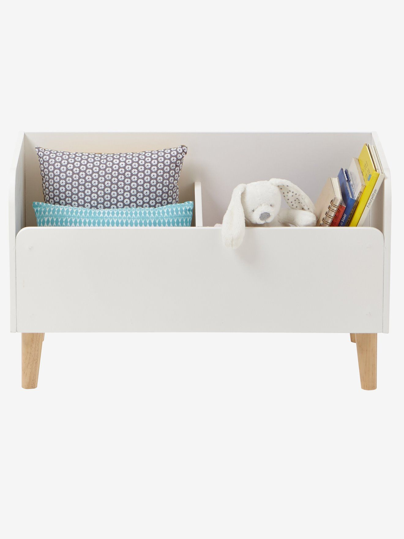 Book Chest Confetti Theme White Wood Bedroom Furniture