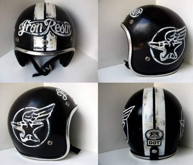 Distressed Lids Motorbike Helmet Motorcycle Helmets Vintage Helmet
