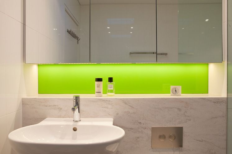 Contemporary Bathroom by Greenbox Architecture - love the shelf ...