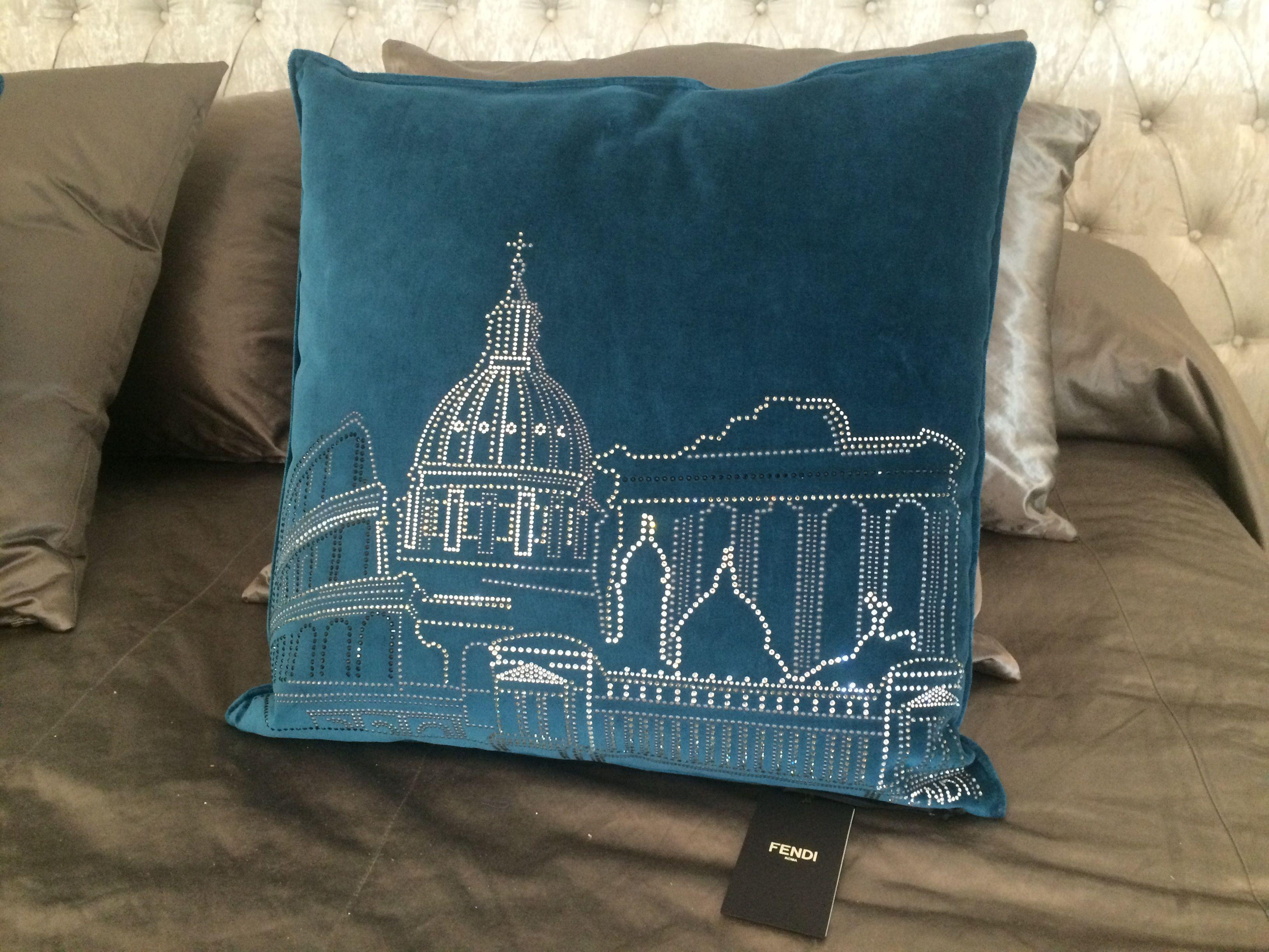 Fendi Casa Cushion With Swarovski At Mobile Diseno Marbella