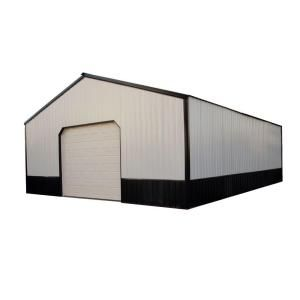 Anniston 24 Ft X 30 Ft X 9 Ft Wood Pole Barn Garage Kit Without Floor Hansen 2400 Series The Home Depot Pole Barn Garage Barn Garage Pole Building Kits