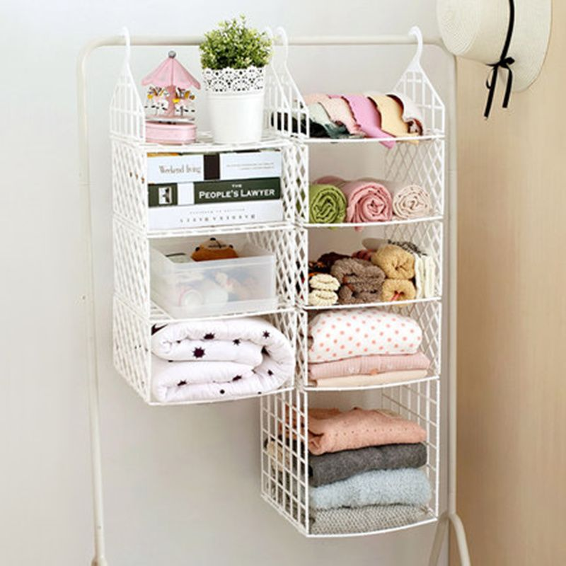 Diy Plastic Bathroom Shelf Foldable Storage Rack Wardrobe Clothes With Hooks Closet Organizer For Bedroom Cabinet In Racks Holders From Home