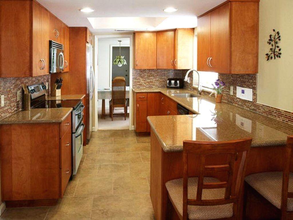 peninsula kitchen layout image of smart wood galley ...