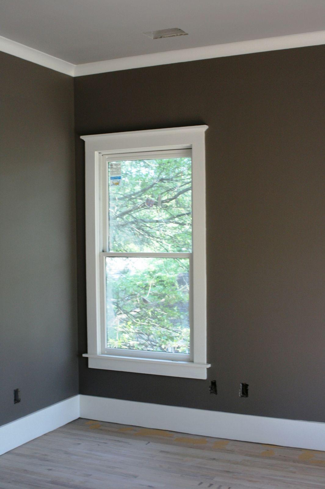 great paint color | Interior window trim, Molding around ...