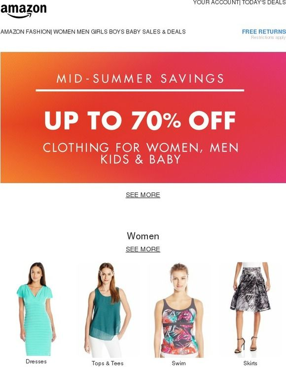 Mid-Summer Savings Up to 70 Off Clothing - Amazon Fashion - clothing drive flyer template