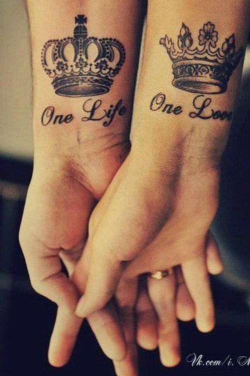 Love Tattoos For Couples Quotes Inspiration Couple Crown Tattoo Tattooideaslive Couple Crown Love Tattoos