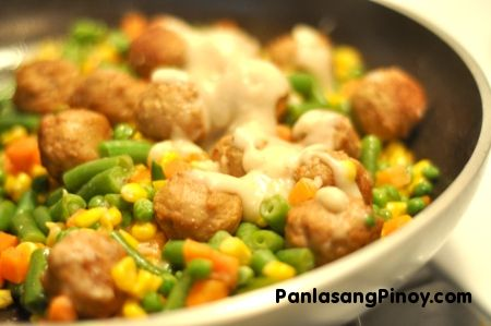 Easy Meatball with Mixed Vegetables Recipe