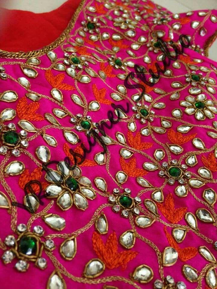 Pin de Lilysha Rani en heavy maggam work blouses   Pinterest ...
