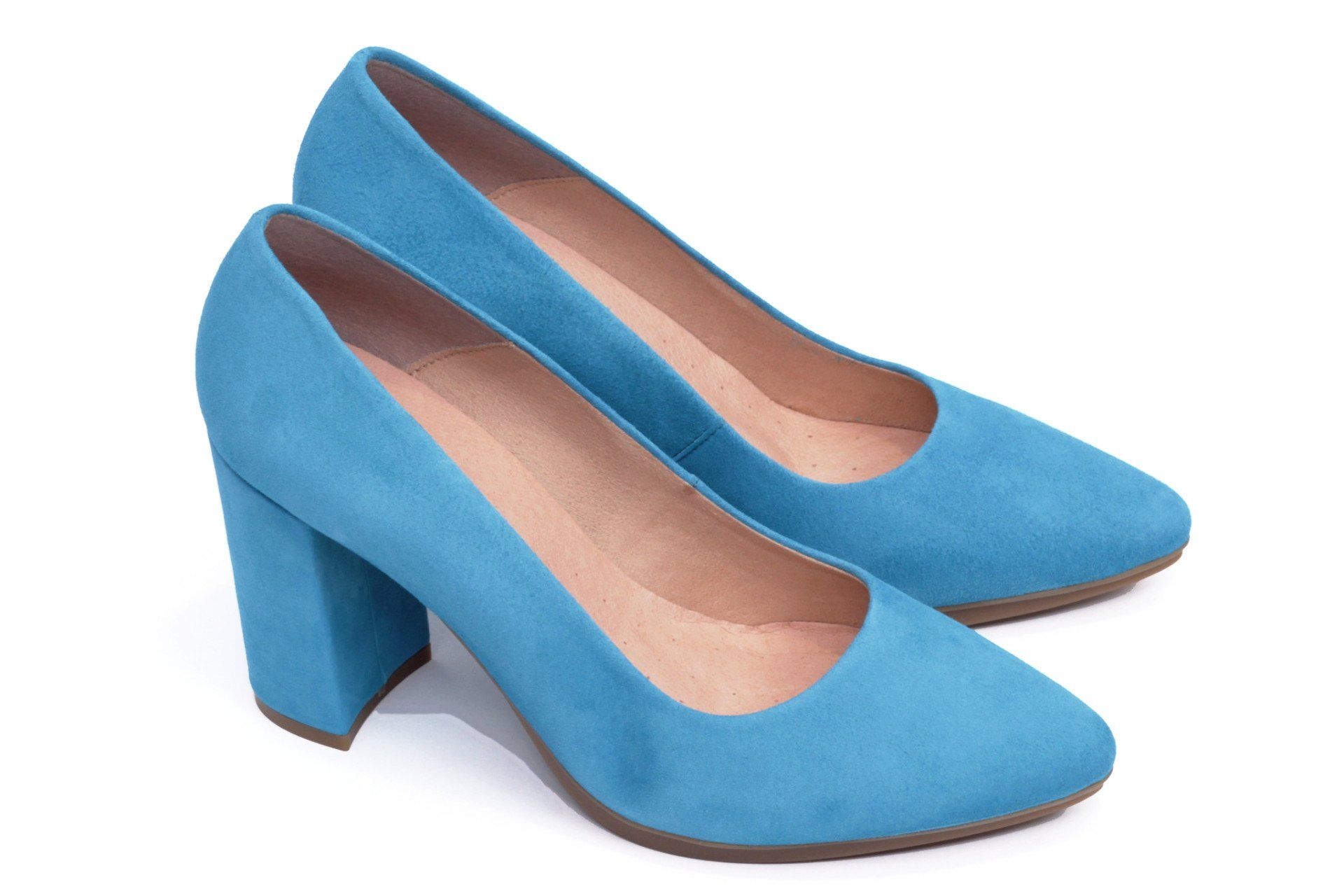 263b507d miMaO Urban Azul Pitufo - Zapato mujer de tacon salones azul vestir cómodo  - women high