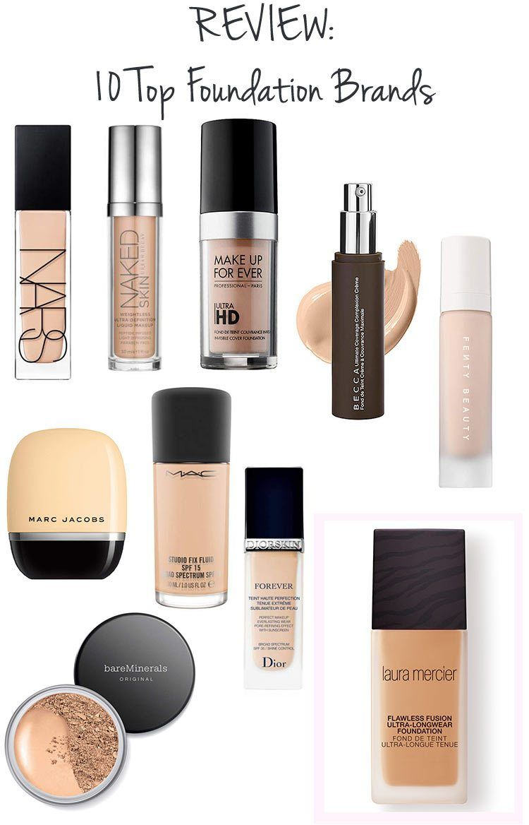 REVIEW 10 Top Foundation Brands // makeup beauty
