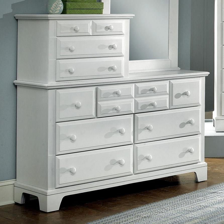 Vaughan Bett Hamilton Franklin Snow White 10 Drawer Vanity Dresser Is A Part Of The Collection That Reflects Great American Traditions And Style