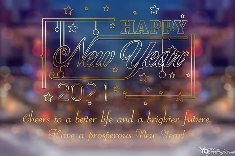 Free Online Happy New Year 2021 Greeting Cards Images Greeting Card Image Happy New Year 2020 New Year Greeting Cards