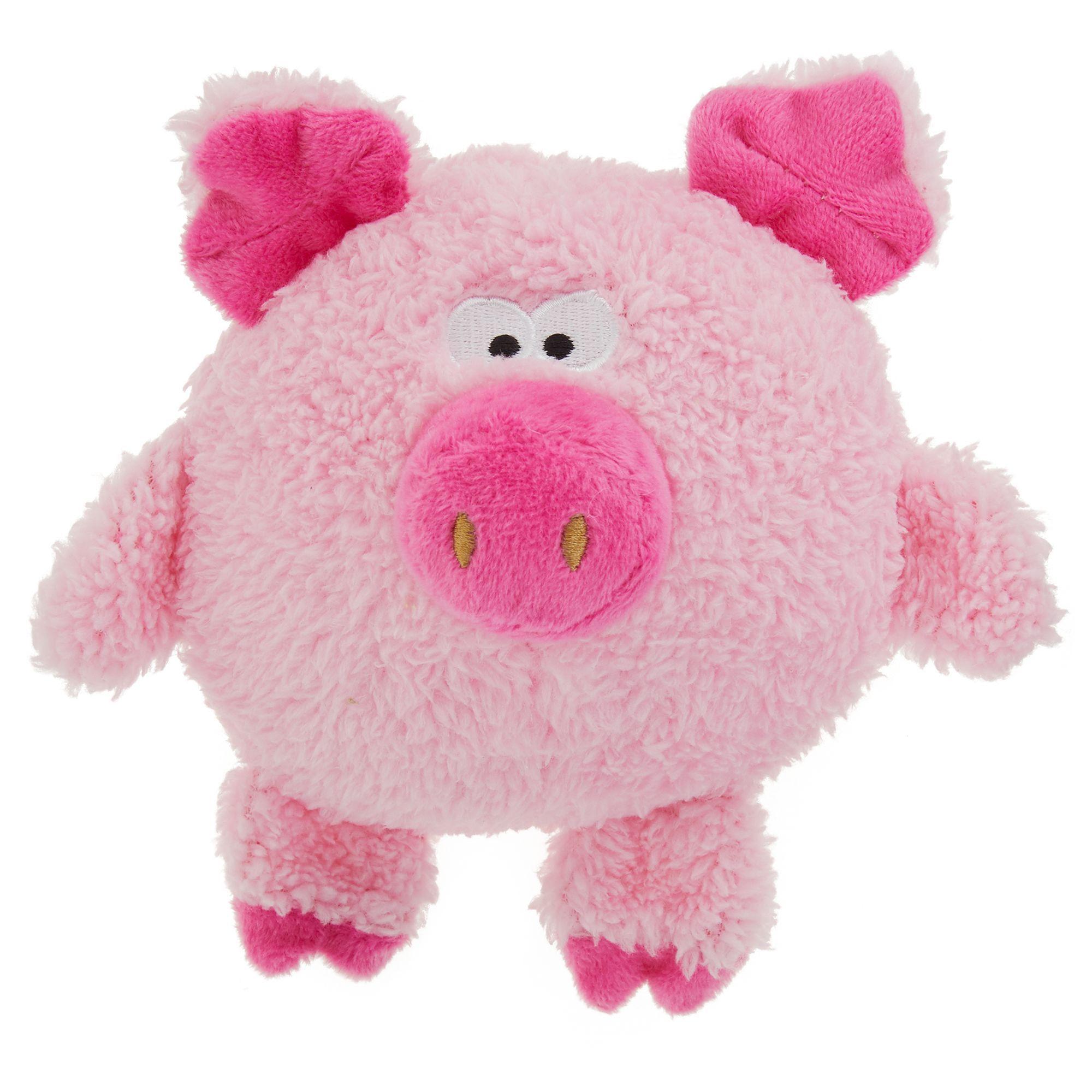 Top Paw Pig Dog Toy Plush Squeaker Dog Toy Ball Dog Toys