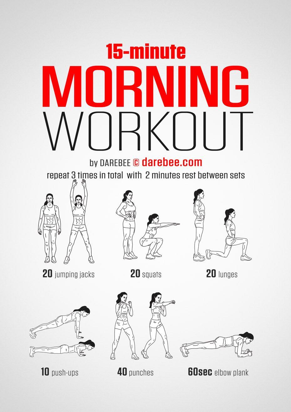 Morning Workout  Cindyus Workout Plan  Pinterest  Workout