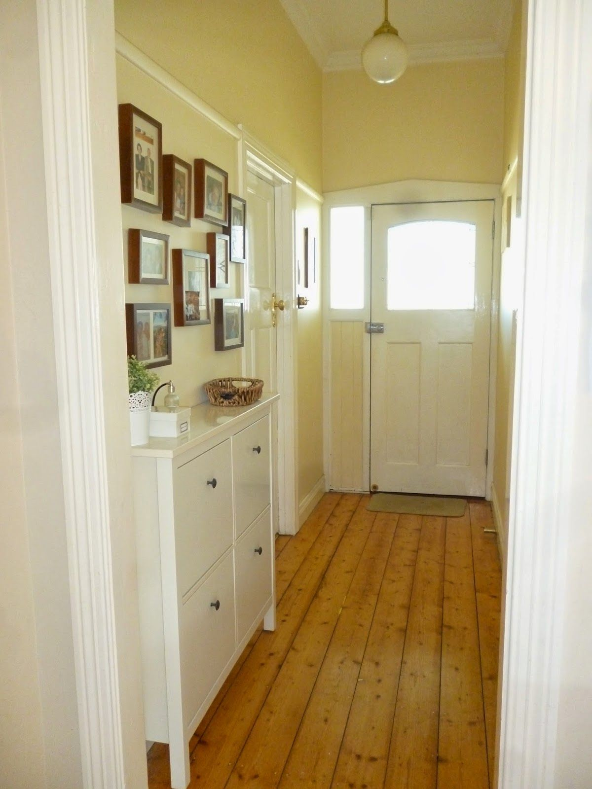 Land House Reno House Tour, Narrow Hallway, Entry Ikea Hemnes