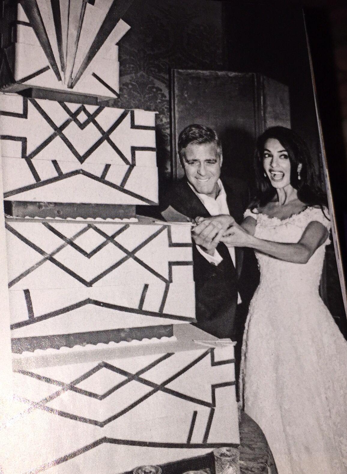 George Clooney Wedding Cake George Clooney Wedding Art Deco Wedding Cake Celebrity Weddings