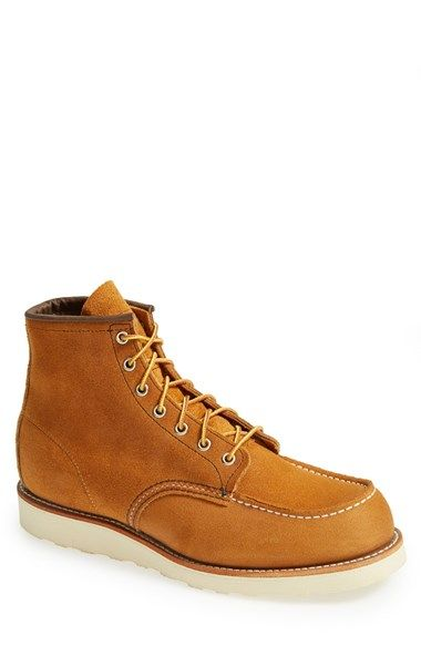Red Wing Suede Moc Toe Boot (Men) available at #Nordstrom