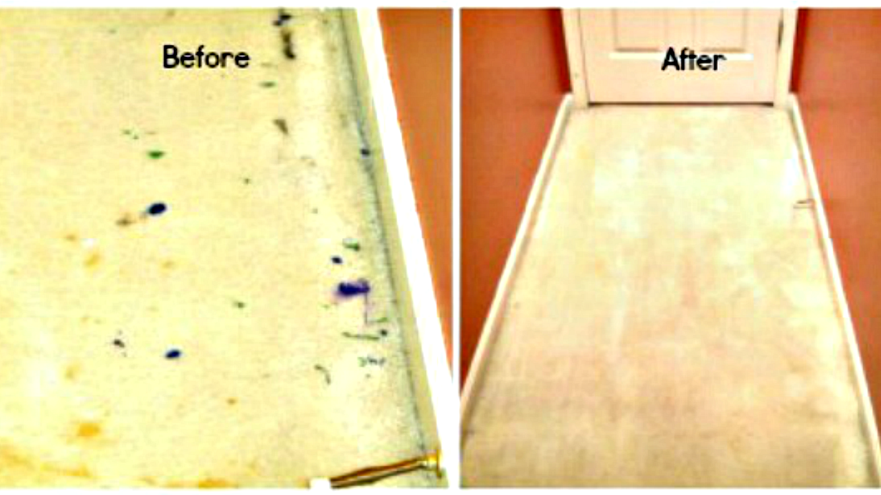 Here S How To Get Dried Paint Out Of Carpet Along With Other Mystery Stains It S Amazing How I Was Able Diy Carpet Cleaner How To Clean Carpet Cleaning Hacks