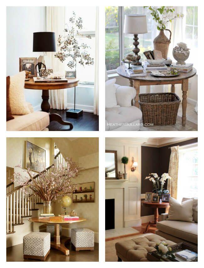 Round table inspiration | Table decor living room, Corner ...