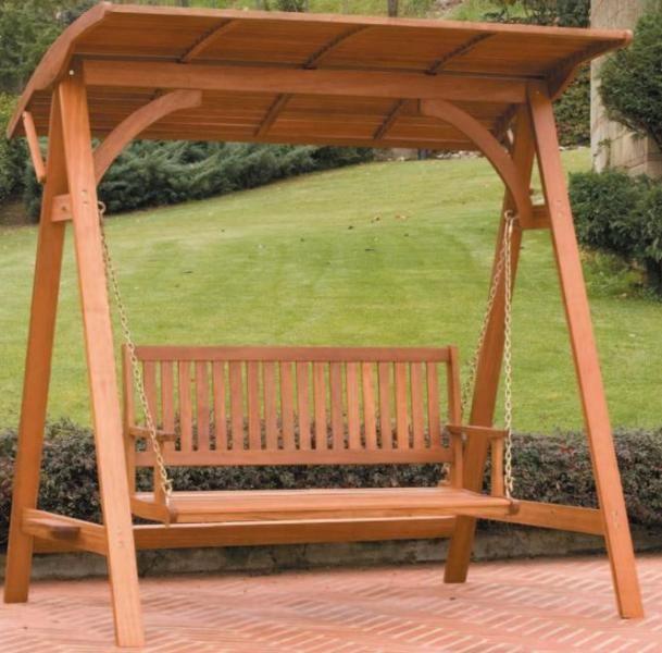 Pin de alfredo valduz en mobiliario y columpios para el jardin en madera y metal - Columpio madera jardin ...