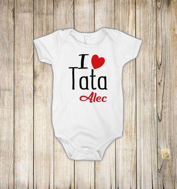 I love Tata, I love grandpa, i love grandfather, Gift for grandpa, birthday gift,tata gift, baby onesie