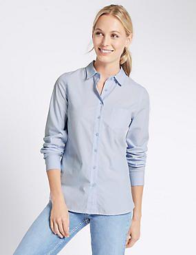Pure Cotton Long Sleeve Work Shirt