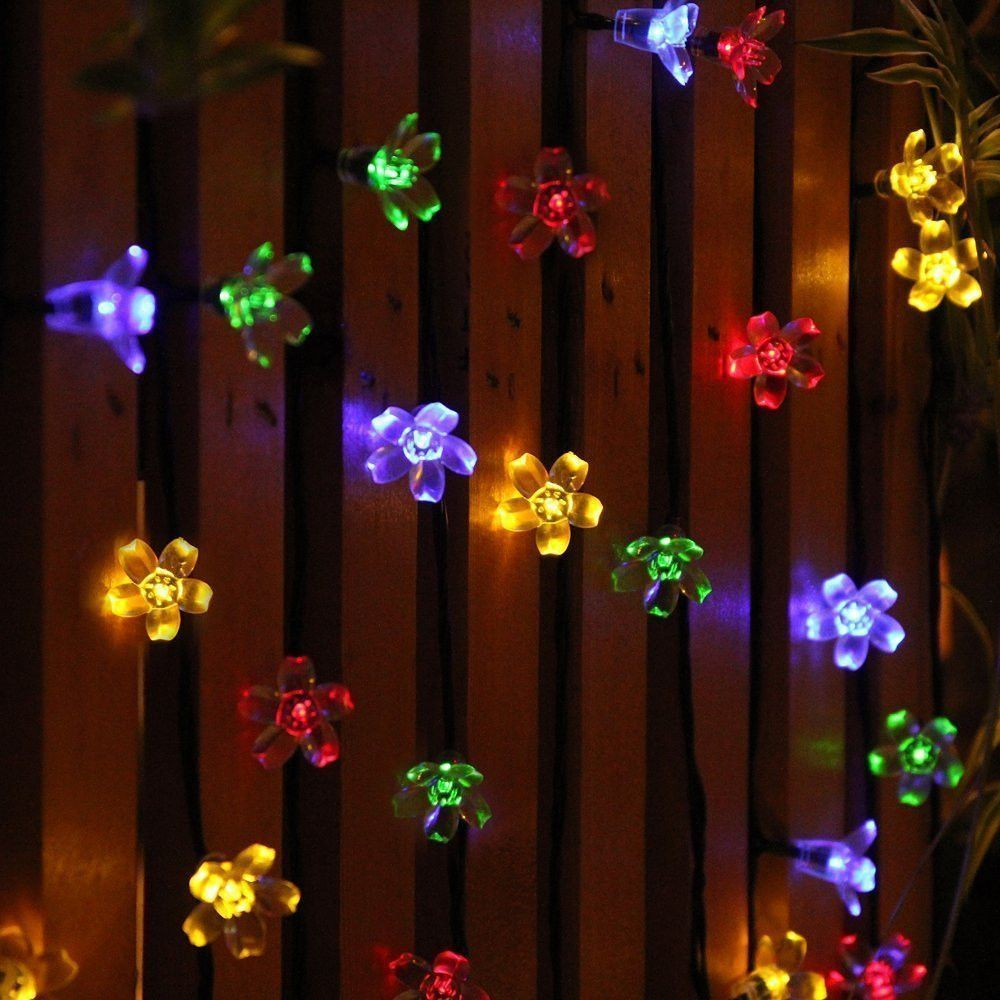 These beautiful floral lights are the perfect colorful