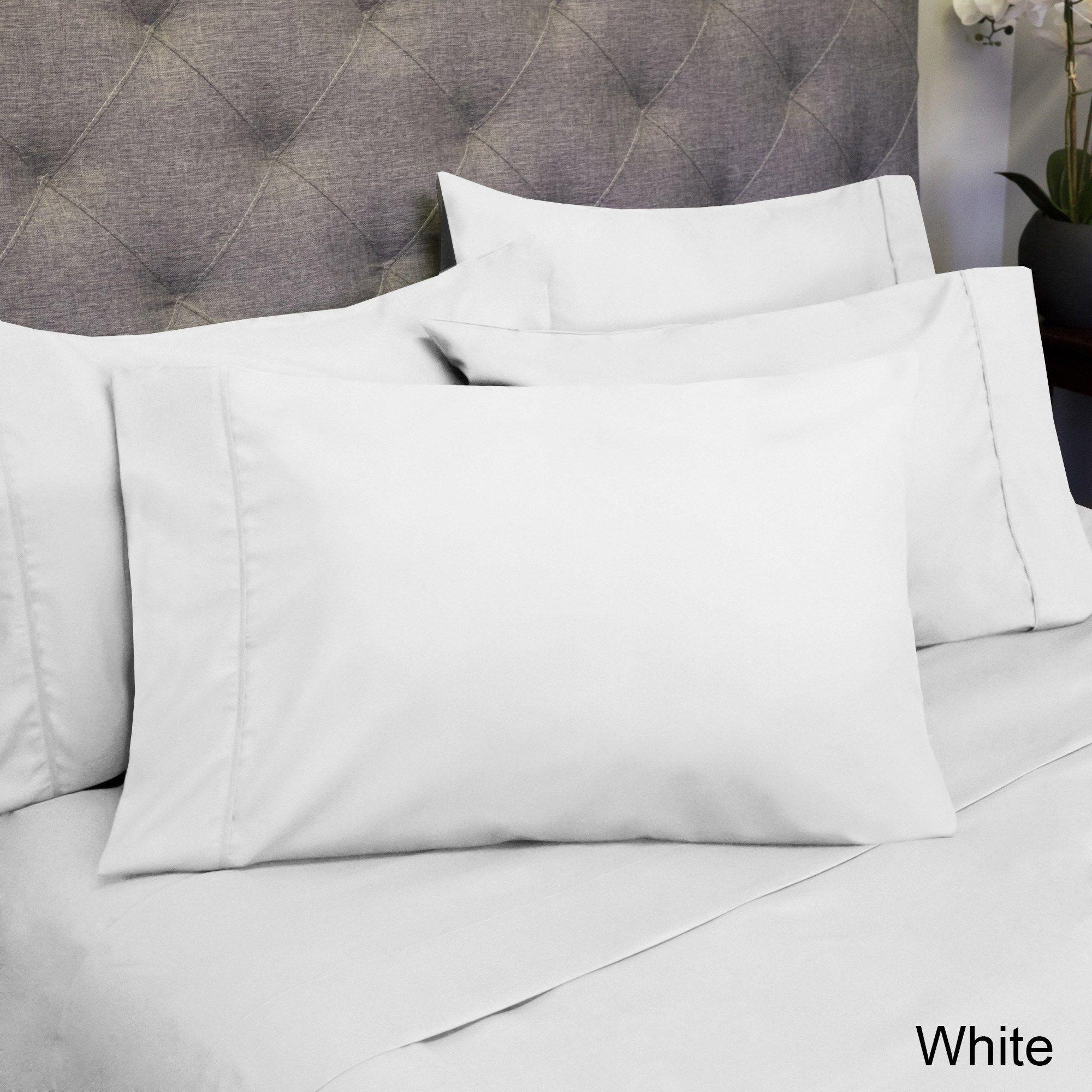 Luxurious ultra soft piece sheet set cal king white