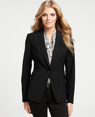 02a990dcba7 Tropical Wool Pickstitched Tuxedo Jacket - Ann Taylor suit pieces ...