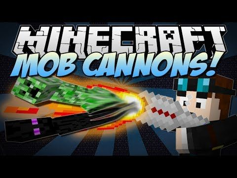 ▷ Minecraft | MOB CANNONS! (Block and Mob Launchers!) | Mod