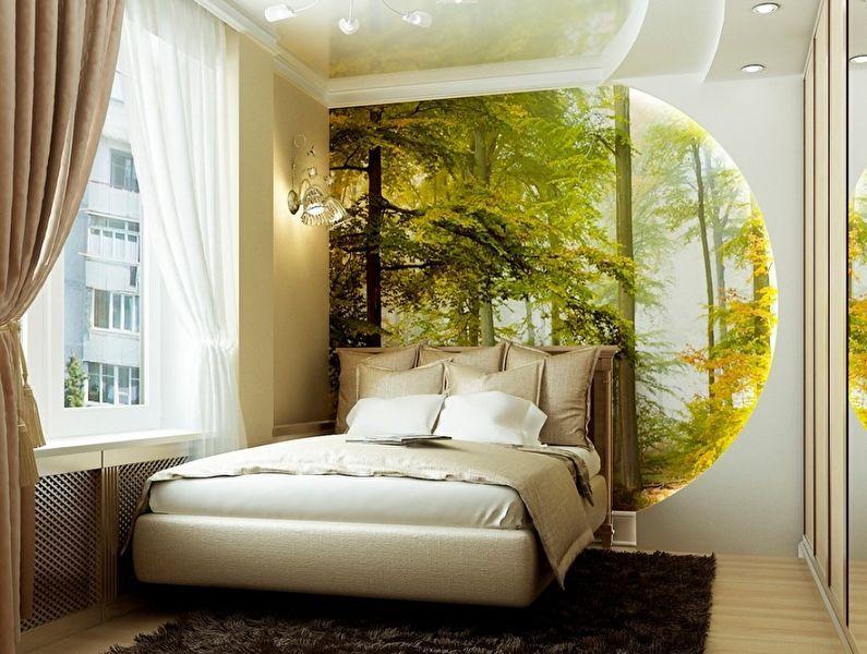 Комбинирование обоев в спальне - 50 фото, идеи и советы ...