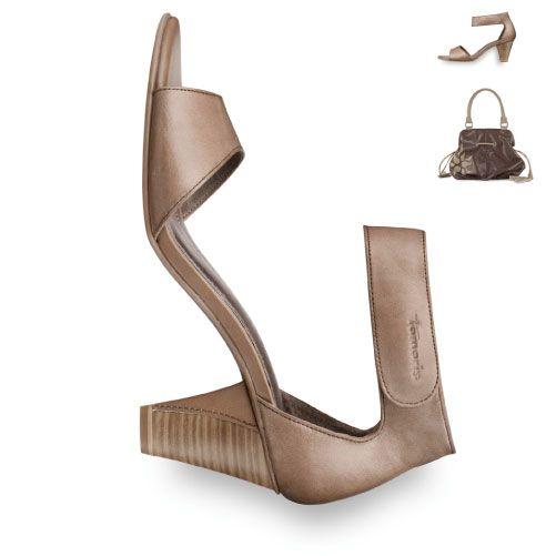 Tamaris, truffle leather sandal