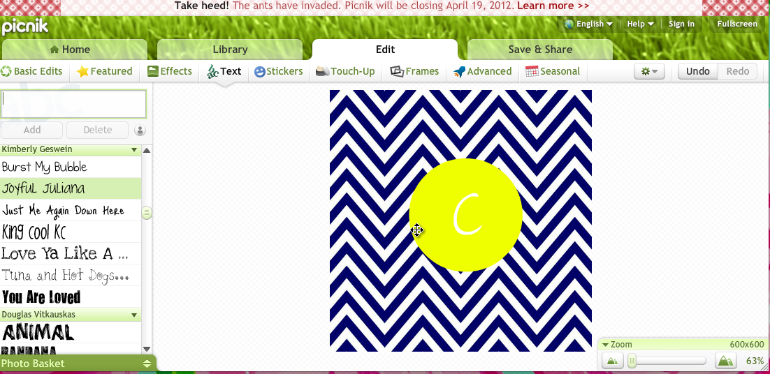 Make Your Own Monogram Desktop Wallpaper