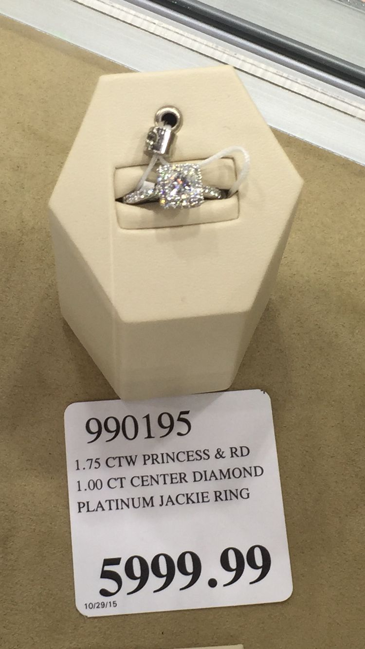 costco princess cut ring zoom - Costco Wedding Ring