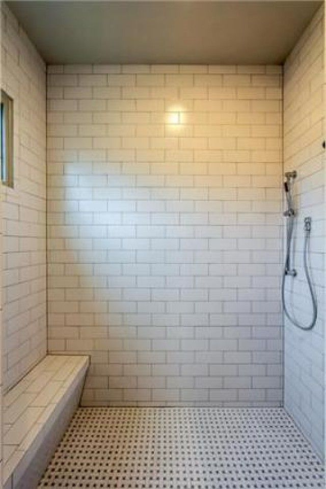 Beautiful Subway Tile Floor To Ceiling In This Shower Masterful