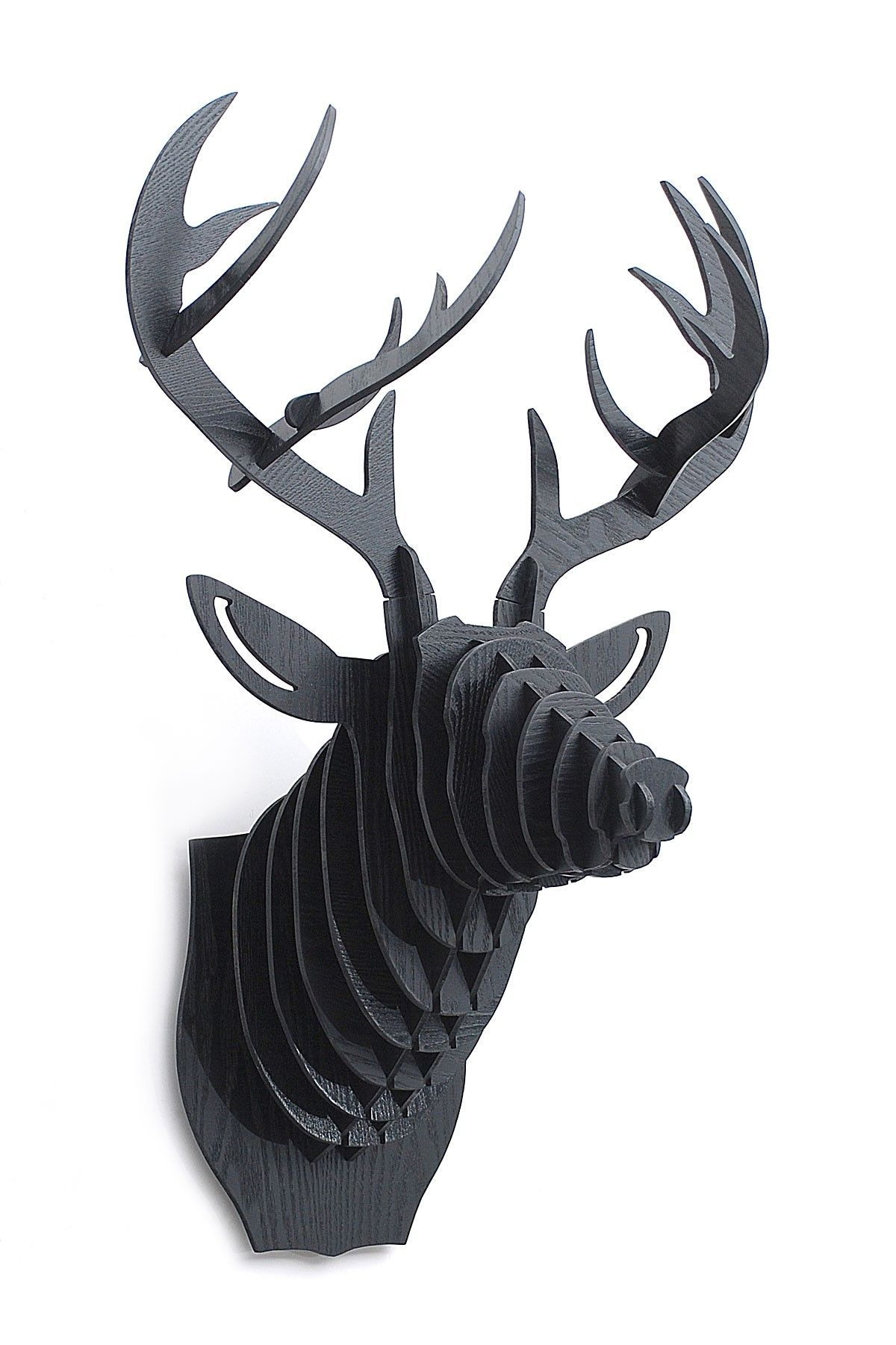 Blue Ocean Manufacturing Group 3d Black Deer Head Hautelook Deer Head Animal Heads Deer
