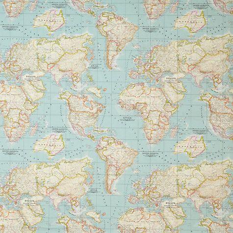 John lewis world map fabric pinterest map fabric john lewis world map fabric gumiabroncs Choice Image