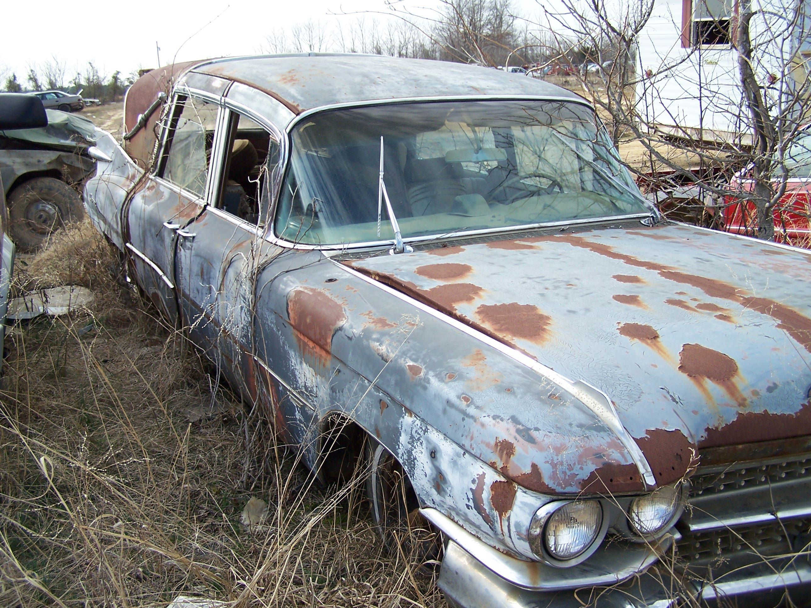 Abandoned Hearse Sweet Junk Yard Find Not Gone