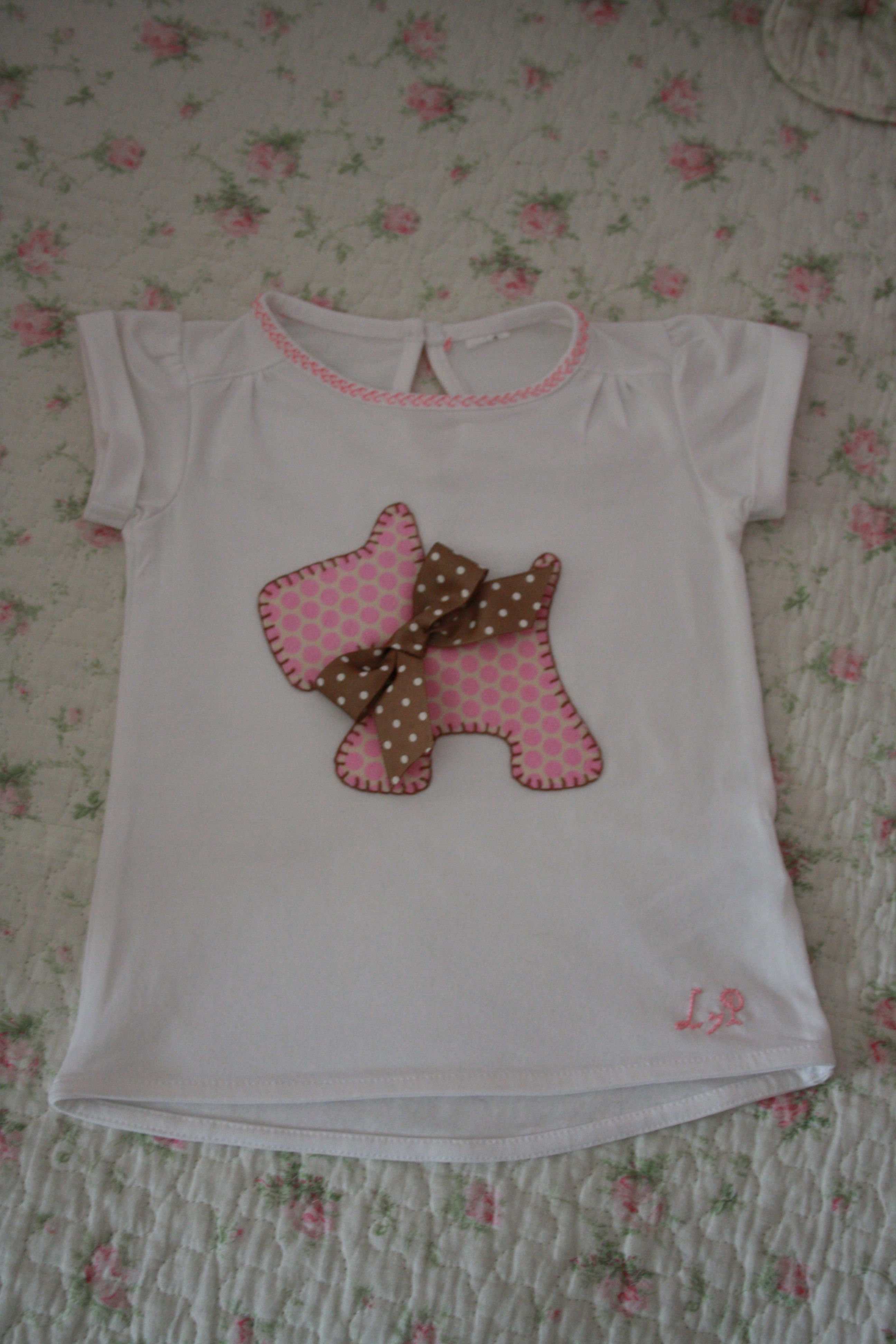 Camiseta perrito para niña | bordados | Pinterest | Kinder nähen ...