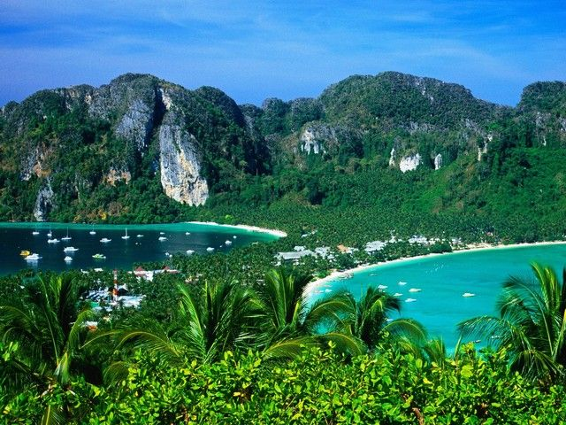 Koh Phi Phi.  If you ever go, hire a long tail boat to take you snorkeling. If you leave early enough you beat the crowds at Maya Bay. Amazing.