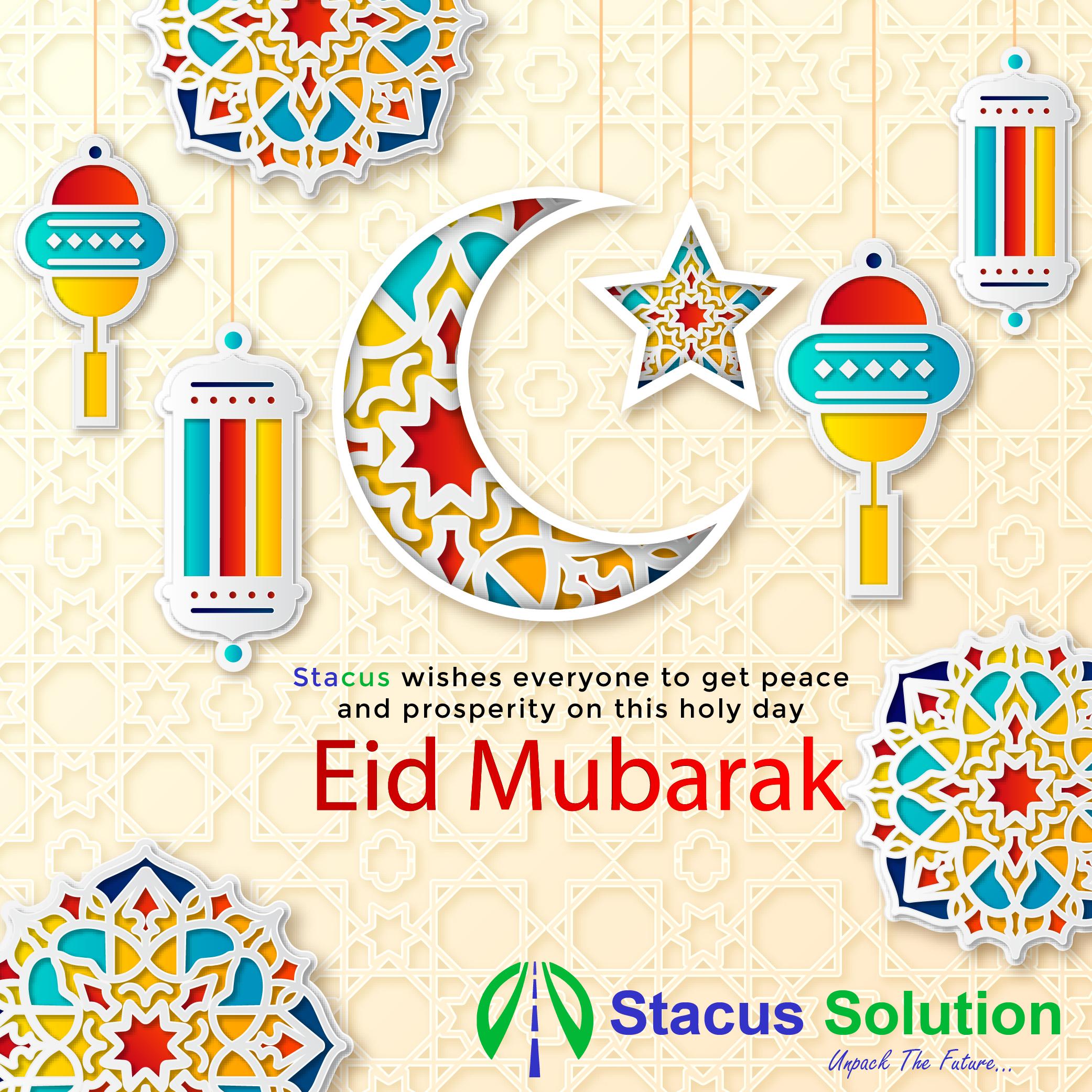 stacus.com wishes Eid Mubarak!  May this pious day brings you immense #joy, happiness, #peace and #prosperity.    #EidMubarak #EidAlFitr #eidmubarak2020 #EidMubark #Eid2020 #EidUlFitrMubarak #Mubarak #Ramadhan #Ramzan2020 #ramzanmubarak #HappyEid #HappyEid2020