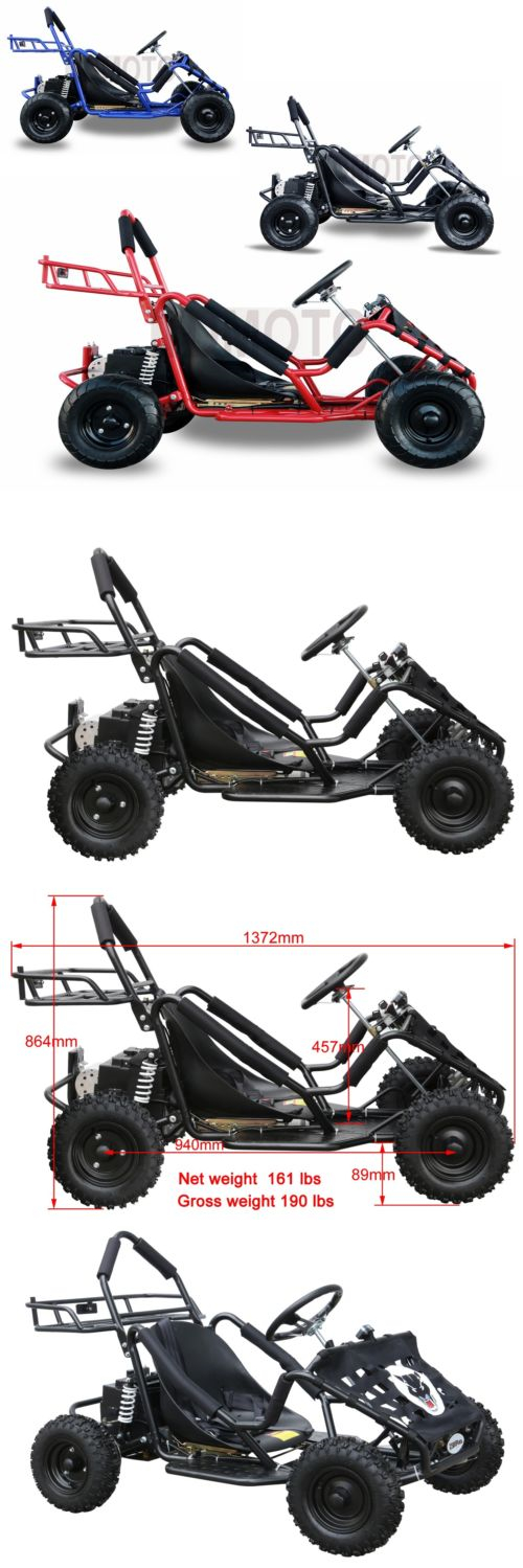 Complete Go-Karts and Frames 64656: 1800W48v Electric Powered Safety ...