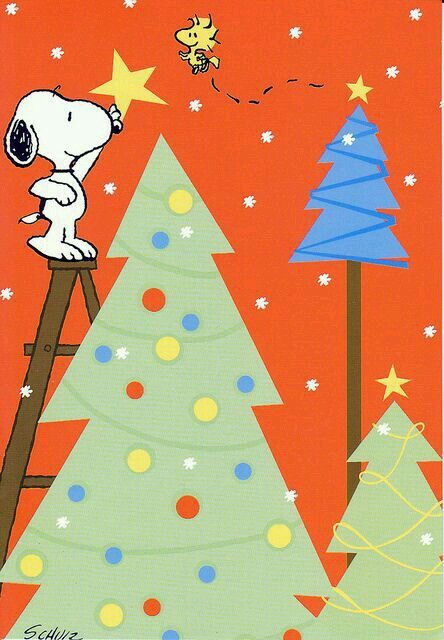 Snoopy adds the Star topper Peanuts Pinterest Snoopy, Star and