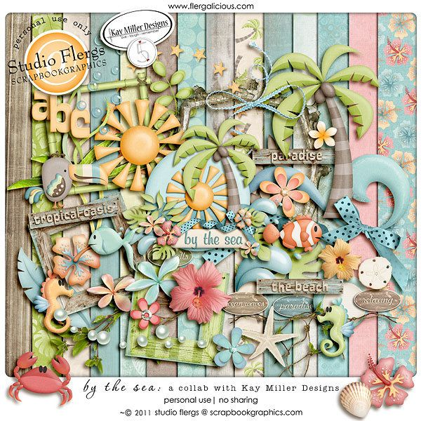 By The Sea By Kay Miller Designs Studio Flergs Scrapbookgraphics