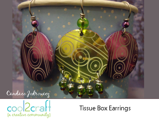 Tissue Box Earrings By Candace Jedrowicz Cut Shapes From